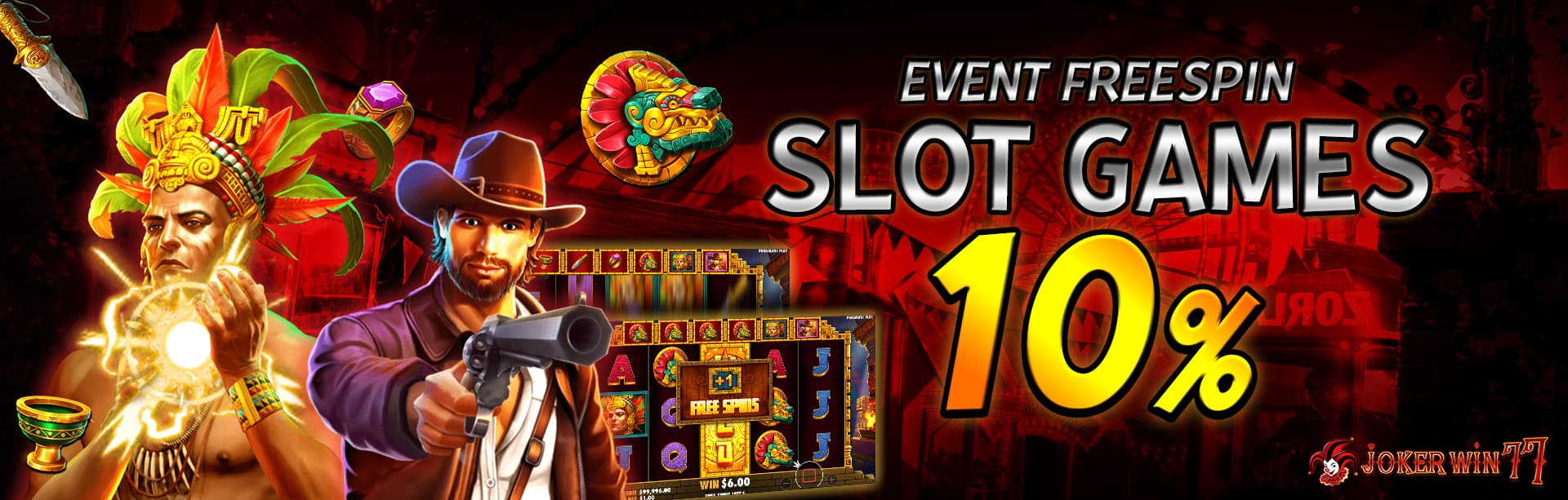 Event Free Spin Slot Jokerwin77 10%